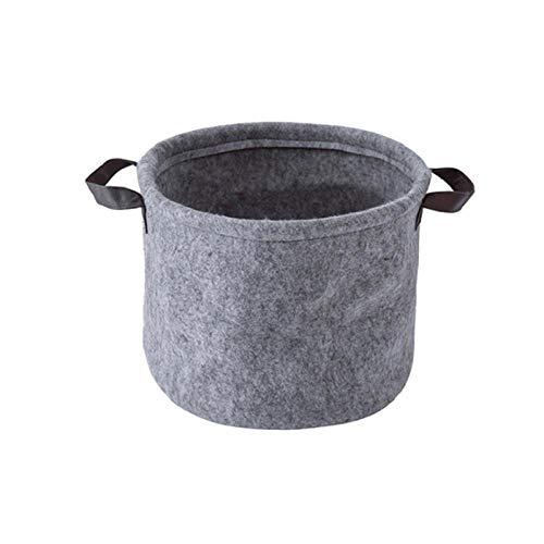 Cesta plegable para la colada de honghaier de fieltro gris con asa para dormitorio o armario, organizador de juguetes