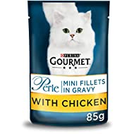 Gourmet Perle Wet Cat Food Mini Fillets with chicken in Gravy Connoisseur's Collection, 85 g x 24