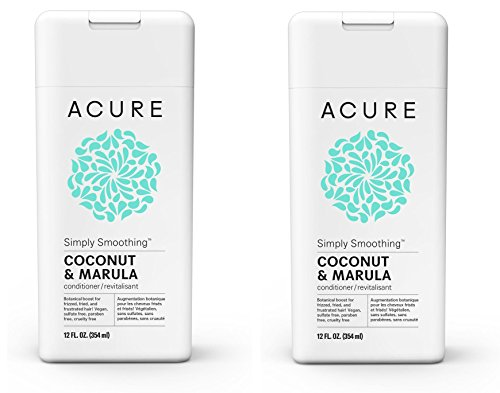 Acure Organics Simply Smoothing Conditioner with Coconut Water + Marula Oil, 8 fl. oz. (Pack of 2)