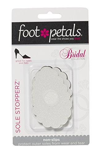 Sole Stopperz Schuhsohlen-Pads, Bridal Collection von Foot Petals, rutschfest, für die Außensohle, Schwarz/transparent, 2 Stück