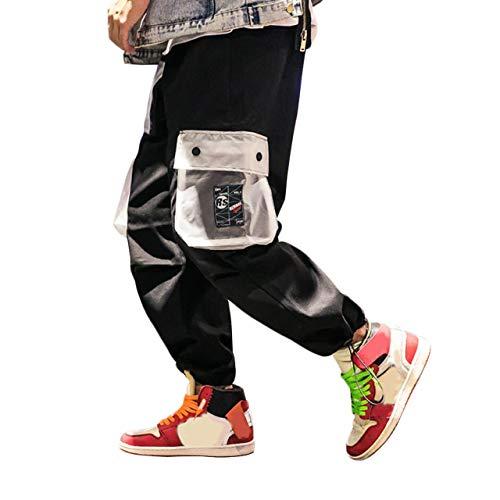 Irypulse Pantalones Carga Hombre Moda Callejera Urbana, Pantalón de Camuflaje Casual Deportivo Estilo Hip Hop para Adolescentes, Jóvenes y Niños, Pantalones Sueltos Color Contraste - Diseño Original