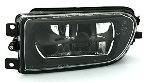 Phare antibrouillard verre transparent noir côté conducteur