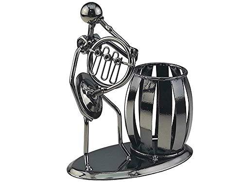 BIGBIGWORLD Portalápices de hierro con diseño de músico musical, soporte para bolígrafos, soporte para bolígrafos, secretaria, decoración de escritorio, juguete de regalo, Hord