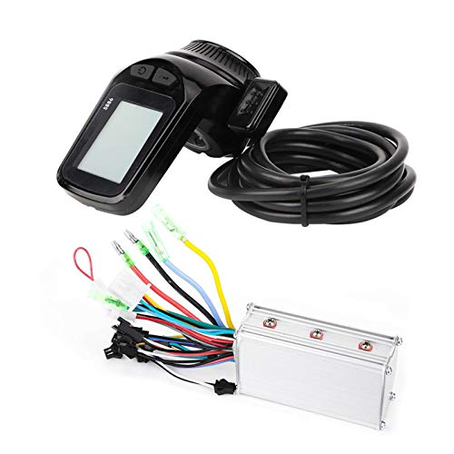 Alomejor E-Bike Motor Controller 24V 36V 48V 60V Scooter Brushless Controller Thumb Throttle LCD-Panel(36v)