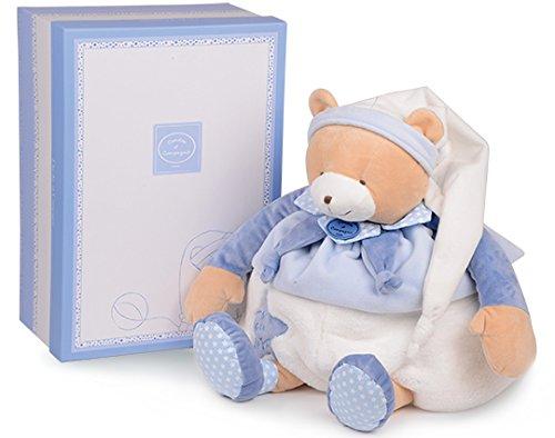 Doudou et Compagnie - Peluche Range-Pyjama Enfant - Ours - 50 cm - Bleu -Petit Chou - DC2719