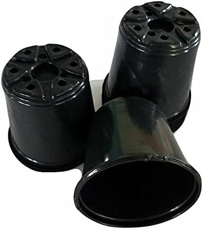 4 inch Round Black Plastic Pots - 250 x Nippon regular agency Set of Flowe 4