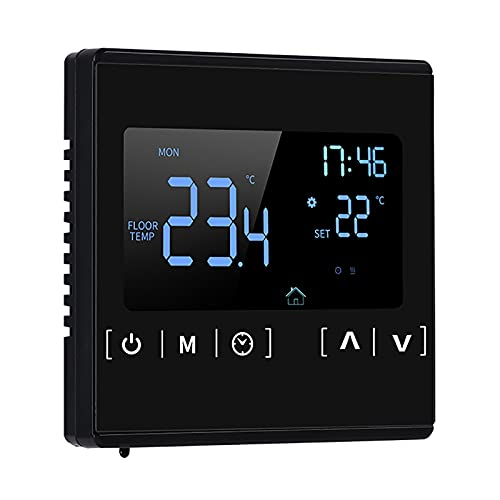 Termostato inteligente con pantalla táctil, 6 modos, memoria de apagado, termostato eléctrico para calefacción de suelo, controlador de temperatura S-Mart para el hogar