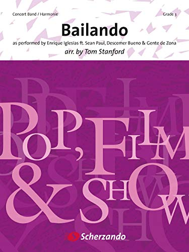Enrique Iglesias,Sean Paul,Descemer Bueno,Gente de Zona-Bailando-Concert Band/Harmonie-SCORE