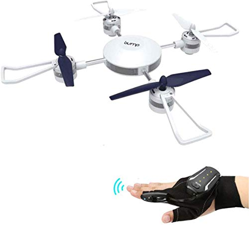 Bump F-7 Orbis Hand Sensor Glove Drone | Control Series Long Range - Heavy Lift | Quadcopter for Kids and Beginners | Auto Altitude Hold Mode | 360 Degree flips | Drone 2.4GHz 6 Axis Gyro
