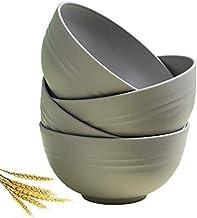 Greenandlife Unbreakable Cereal Bowls - 24 OZ Wheat Straw Fiber Lightweight Bowl Sets 4 - Dishwasher & Microwave Safe - fo...