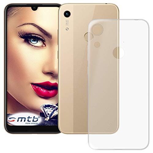 mtb more energy® Hülle Clear und Slim für Huawei Y6S, Honor 8A (6.09'') - transparent - flexibel - TPU Silikon Schutzhülle Hülle Cover Tasche