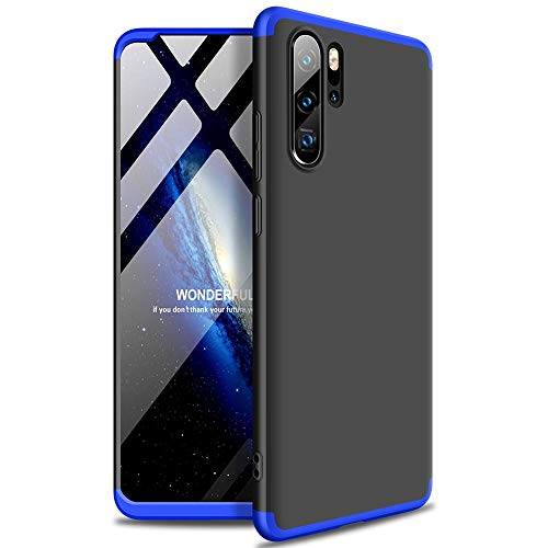 Prime Retail Huawei Honor P30 Pro Matte Texture Design Anti-Slip Shockproof GKK Case for Huawei Honor P30 Pro 360 Case (Black Blue)