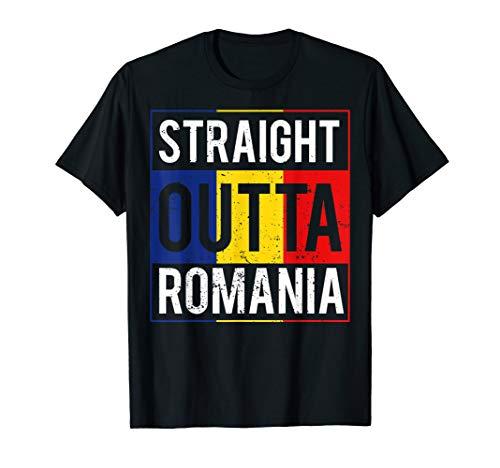 Retro Rumänien Fahne Geschenke Romania Flagge T-Shirt
