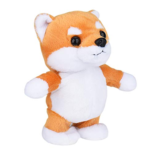 N/P Shiba Inu Plush Stuffed Animals Talk Back Toys Repeat What You say Mimicry pet Toy Walking and Talking Recording Cute Voice