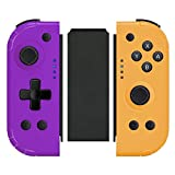 Wireless Joy Pad Controller for Switch, Replacement for Joycon with Macro Button and Grip Stand, L/R Button/Turbo/Vibration/Motion Functions Joycon Handheld Gamepad Remote&Connector