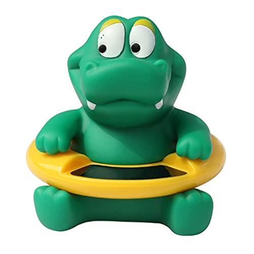 Xzbnwuviei Termómetro de agua de baño para bebé, juguetes de baño Celsius, cocodrilo verde para recién nacido, forma encantadora, juguete flotante de seguridad