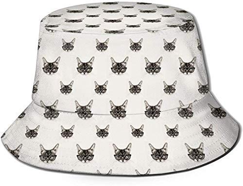 Sombrero de Cubo de Viaje con Estampado de Bandera de Orgullo Gay Unisex, Gorra de Pescador de Verano, Sombrero para el Sol, Gatos de Hispter