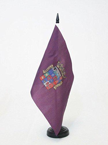 AZ FLAG Bandera de Mesa de la Provincia DE PALENCIA 21x14cm - BANDERINA de DESPACHO PALENCIA ENCastilla Y LEÓN 14 x 21 cm