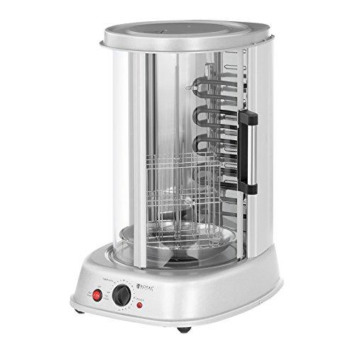 Royal Catering Rotissoire Verticale Professionnelle Grill Vertical Electrique RCGV-1800 (4-in-1, Puissance 1.800 W, Temperature...