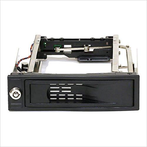 Groovy ハードディスク簡単着脱マウンタ [ SATA接続3.5インチHDD / 5.25インチベイ専用 ] HDD-DOOR3.5BK