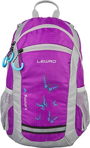 Lewro Mädchenrucksack Butterfly wasserabweisend Wanderrucksack Kinderrucksack Mädchen Rucksack Timmy 8 Liter Purple mit verstellbaren Brustgurt