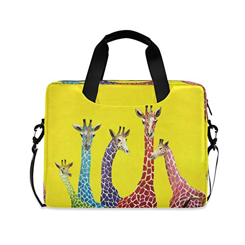 Computer Carrying Case for Adult Kids Laptop Bag Giraffe Computer Bags 13-15.6 inch Laptop Sleeve Case Laptop Shoulder Bag Laptop Carrying Bag with Strap Handle
