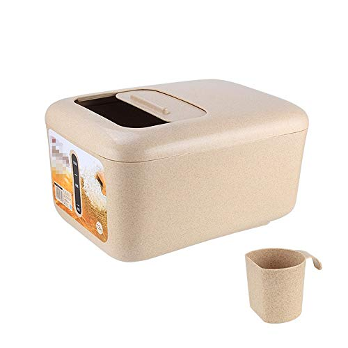 Reisvorratsbehälter Große Lebensmittel Vorratsbehälter luftdichte Behälter Geeignet for Brot Reismehl Dry Bulk Lebensmittel und Backwaren rechteckig mit Deckel für Pasta, Müsli, Reis, Tiernahrung und