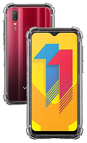 Ortono Shockproof Crystal Clear Soft Flexible Back Cover Case [Cushioned Edges for Ultimate Protection for Vivo Y11 (Transprent)