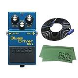 BOSS コンパクトエフェクター Blues Driver BD-2 + 3m ギターケーブル VOX VGS-30+クロス セット