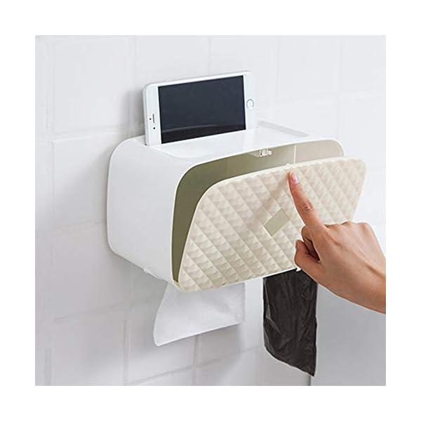 Galapara Portarrollo para Papel Higiénico, sin perforación montado en