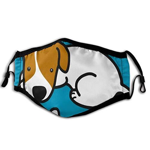 """NA Masken Jack Russell Hund mit Knochen Cartoon 6""""x9 Zoll Gesichtsmaske Unisex für Outdoor-Aktivitäten"""