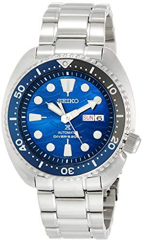 [セイコーウォッチ] 腕時計 プロスペックス メカニカル Save the Ocean Special Edition ブルー文字盤 タートル Turtle SBDY031 メンズ シルバー