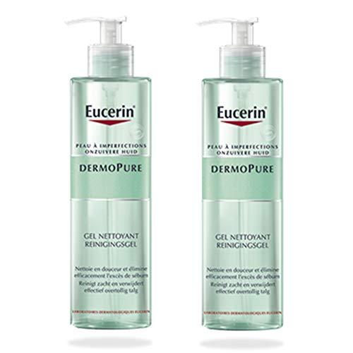 Eucerin Dermo Pure Gel Limpiador - Paquete de 2 x 400 ml