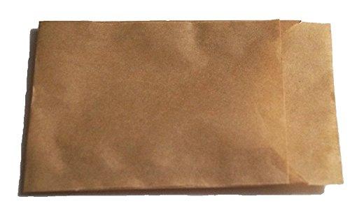 Papiertüten braun flach 6,5x9cm nicht gestreift (600 Stück)von BLÜHKING®