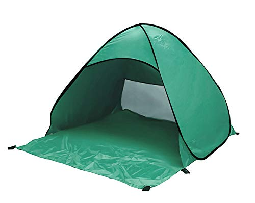 KKING Pop-Up Beach Tent, Foldable Beach Shelter for 2 People, Suitable for Family Camping,green