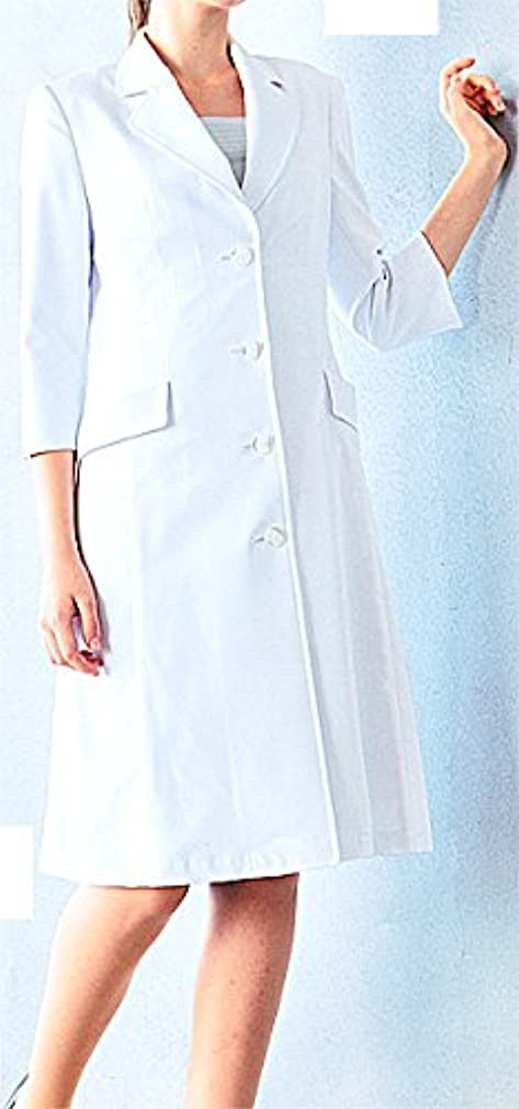 閃光に対応する定説カゼン 124-10 レディス診察衣 (看護師 ドクター 介護)