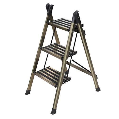 Escalera de seguridad, taburetes con peldaños, escalera telescópica de aluminio Escalera de extensión telescópica Escalera multiusos plegable Escalera industrial compacta para loft Escalera portátil p