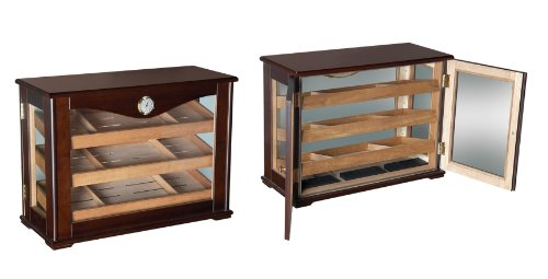 Prestige Import Group 250 Count Cigar Countertop Display Humidor w/ Trays