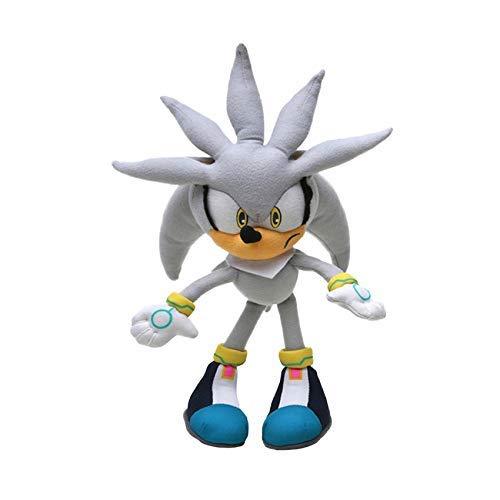 feilongzaitian Peluche 32Cm 12.5 Peluche Sonic Silver Super Sonic The Hedgehog Peluche Sonic Toys Code Soniche Knuckles Shadow Stuffed Dolls Keychain