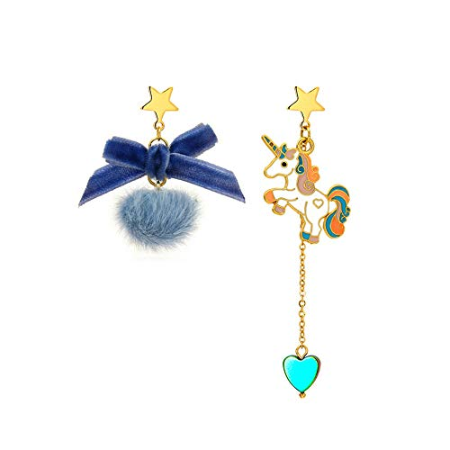 Dangly Earrings for Women and Girls Cute Unicorn Earrings Plush Hypoallergenic Earrings Ear Piercing Earrings for Gift