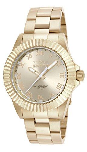 Invicta Men's Pro Diver 44mm Gold Tone Stainless Steel Quartz Watch, Gold (Model: 16739)