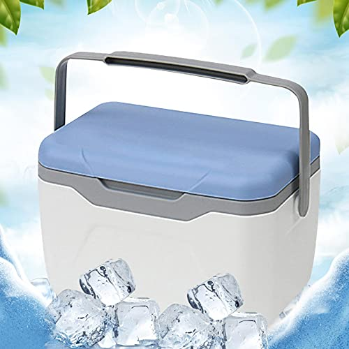 Frigorifero portatile, scatola termica, ghiacciaia, scatola frigorifera, piccola scatola frigorifera termica da 5,5 L, contenitore per alimenti isolato da campeggio, picnic o lavoro con maniglia