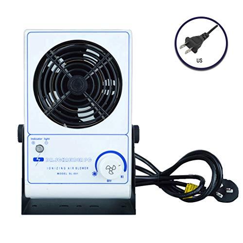 BIlinli US/EU/UK/AU Enchufe Ionizador Soplador de Aire Ventilador de Iones antiestático Eliminador de estática