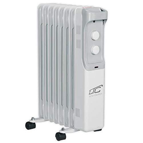 LTC elektrische oliegevulde radiator 3 warmtestanden elektromechanische thermostaat 1500W 7 Rippen