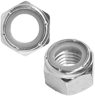 1//2-13 Hex Nylon Insert Lock Nuts 1//2 x 13 Coarse Thread Nylock Chrome 1