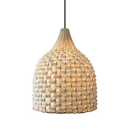 Lámpara De Mimbre De Mimbre Natural Lámpara Colgante Bambú Hecha A Mano Lámpara De Techo Colgante De Estilo Asiático Lámpara De Techo Del Sudeste Oriental Accesorio De Cuenco Pantalla De Lámpara E27