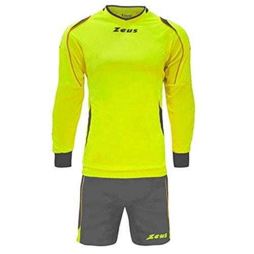 Zeus Kit GK Paros pour homme et enfant avec maillot et short pour football en salle Jaune/gris, jaune (Jaune) - GK PAROS