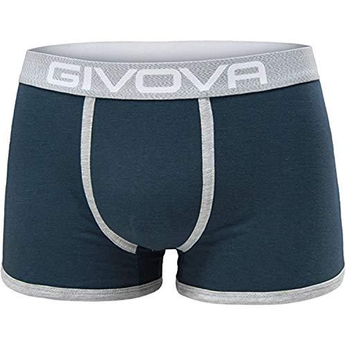 Givova® 6 Boxer Uomo Cotone Elasticizzato Intimo Mutande Uomo Colorate alla Moda 2 Neri 2 Grigi 2 Blu (2 Neri 2 Grigi 2 Blu, L)