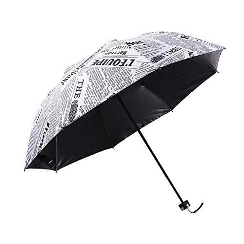 DC CLOUD Paraguas De Viaje Paraguas Mujer Paraguas Gran Bolsillo Paraguas Stormproof UV Paraguas Paraguas Plegable con Mango Mate Durable Y Fuerte para Hombres Y Mujeres White,One Size