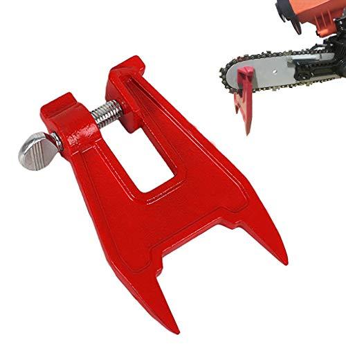 Stump Vise Saw Chain Sharpening Feilen Tool Bar Clamp Kettensäge Zubehör,Kettenspannvorrichtung Kettenschärfer für Motorsäge (Rot)